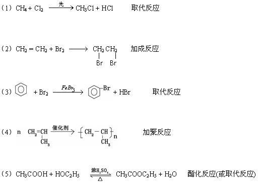 书写化学方程式,并注明反应类型