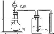 乙醇与钠�yn�_现给出乙醇,钠反应装置图,请回答下列问题