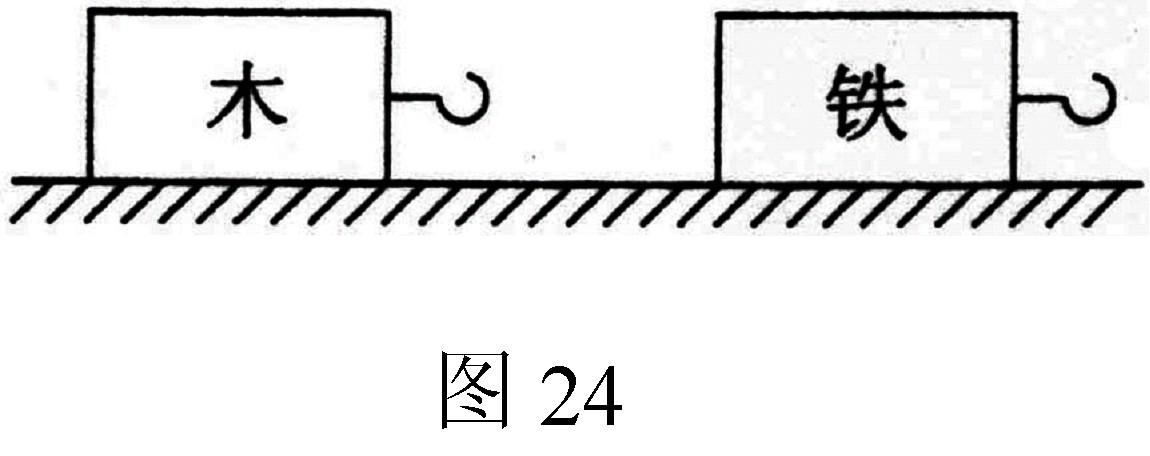 同一水平桌面上放有长方体木块和铁块各一